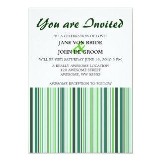 Cool Green Stripes Card