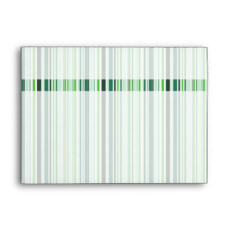 Cool Green Stripes Envelope