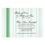 Cool Green Stripes Invites
