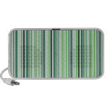 Cool Green Stripes Mp3 Speakers