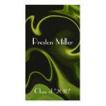 Cool Green Swirl Class of Senior Graduation Card Business Card