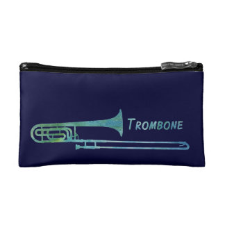 Cool Green Trombone Makeup Bag