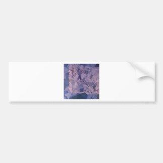Cool Grey Blue Orange Abstract Low Polygon Backgro Bumper Sticker