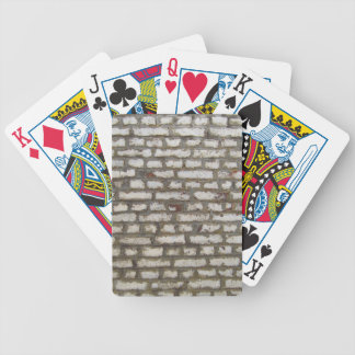 Cool grey brick wall pattern texture bicycle playing cards