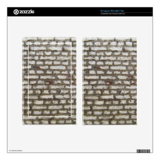 Cool grey brick wall pattern texture kindle fire skin