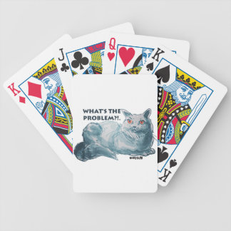 cool grey cat illustration with text bicycle playing cards