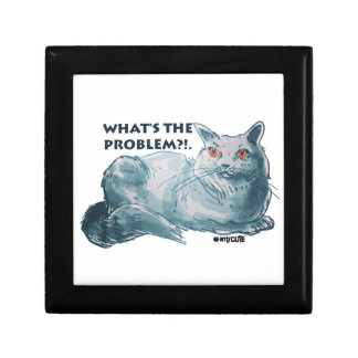 cool grey cat illustration with text gift box