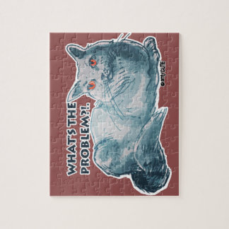 cool grey cat illustration with text jigsaw puzzle