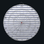 "Cool Grey Horizontal Stripes; Striped Dartboard With Darts<br><div class=""desc"">You will love this cute,  chic,  Cool Grey Horizontal Stripes; Striped pattern design!  We invite you to our store,  Baby Shower Boutique,  to view this cool girly design on many more great customizable products,  including modern Baby Shower invitations and baby boy &amp; girl gifts!  Thank you!</div>"