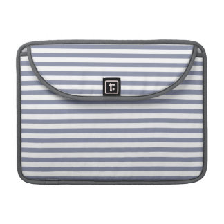 Cool Grey Horizontal Stripes; Striped MacBook Pro Sleeve