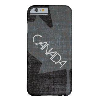 Cool grey on black canadian maple leaf case
