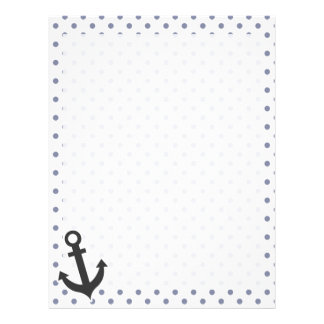 Cool Grey Polka Dots; Anchor Letterhead