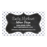 Cool Grey Polka Dots; Retro Chalkboard Double-Sided Standard Business Cards (Pack Of 100)