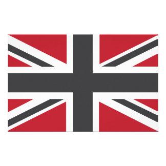 Cool Grey Red Union Jack British(UK) Flag Stationery