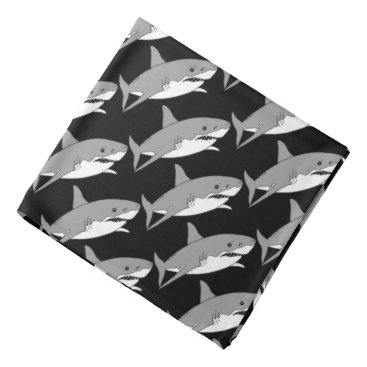 Beach Themed cool grey shark bandana