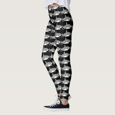 Beach Themed cool grey shark leggings