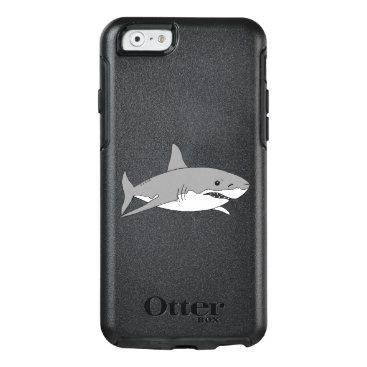 Beach Themed cool grey shark OtterBox iPhone 6/6s case