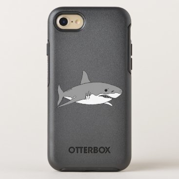 Beach Themed cool grey shark OtterBox symmetry iPhone 7 case