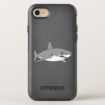 Beach Themed cool grey shark OtterBox symmetry iPhone 8/7 case