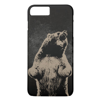 Cool Grizzly Bear Dark iPhone 7 Plus Case