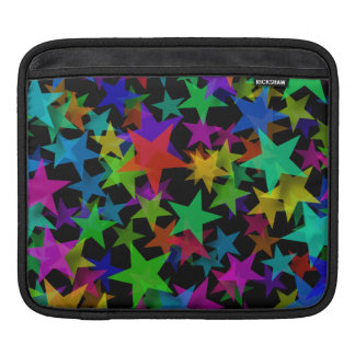 Cool Groovy Rainbow Stars iPad Sleeve