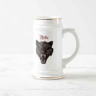 Cool Grunge Alpha Wolf Dog Beer Stein