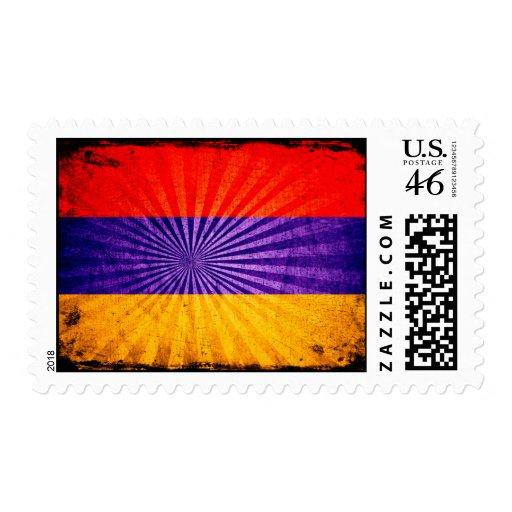 Cool Grunge Armenia Flag Stamp