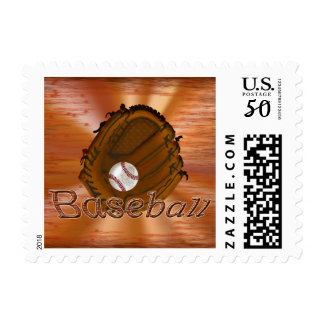 Cool Grunge Baseball Postage Stamps USPS