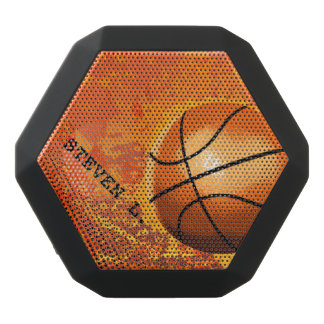 Cool Grunge Basketball Abstract Art Personalized Black Bluetooth Speaker