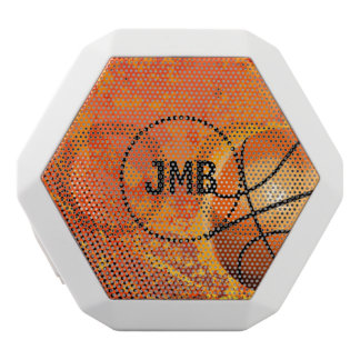 Cool Grunge Basketball Abstract Art Personalized White Bluetooth Speaker