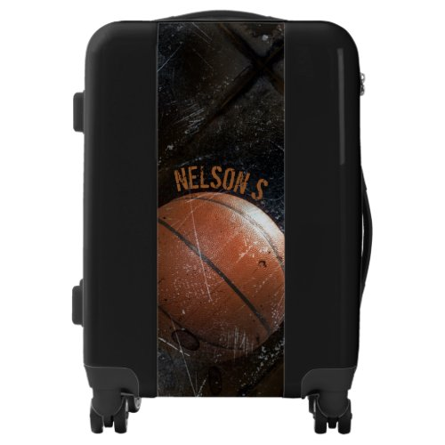 Cool Grunge Basketball Personalized Luggage