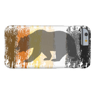 Cool Grunge Bear Shadow Gay Bear Pride Barely There iPhone 6 Case