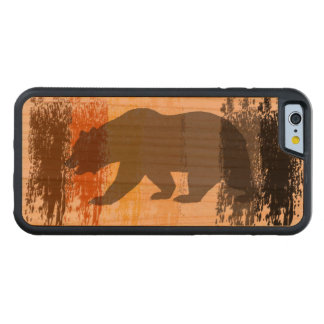 Cool Grunge Bear Shadow Gay Bear Pride Carved® Cherry iPhone 6 Bumper Case