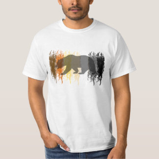 Cool Grunge Bear Shadow Gay Bear Pride T-Shirt