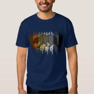 Cool Grunge Bear Shadow Gay Bear Pride T-shirt