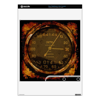 Cool Grunge Biker Speedometer Playstation 3 Skin PS3 Slim Skins