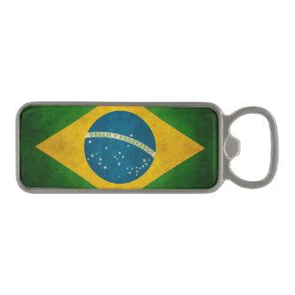Cool Grunge Brazil Flag Bandeira do Brasil Magnetic Bottle Opener