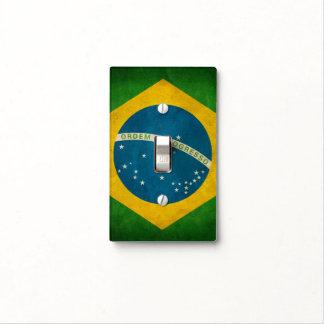 Cool Grunge Brazil Flag Bandeira do Brasil Switch Plate Cover