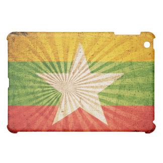 Cool Grunge Burma Flag iPad Mini Cases