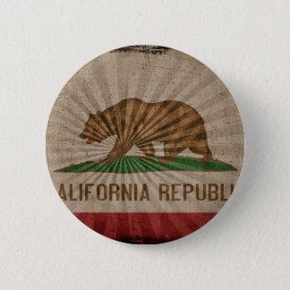 Cool Grunge California Flag Button