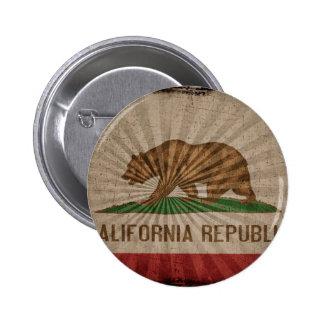 Cool Grunge California Flag Pins