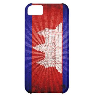 Cool Grunge Cambodia Flag iPhone 5C Case