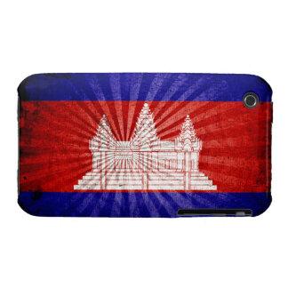 Cool Grunge Cambodia Flag Case-Mate iPhone 3 Cases