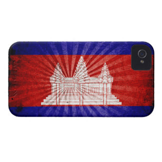 Cool Grunge Cambodia Flag iPhone 4 Cover