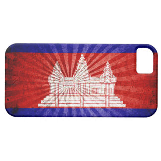 Cool Grunge Cambodia Flag iPhone 5 Covers