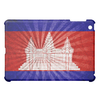 Cool Grunge Cambodia Flag iPad Mini Cover