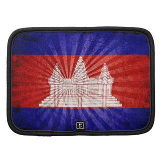 Cool Grunge Cambodia Flag Organizers
