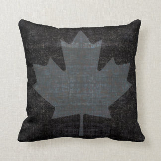 cool grunge Canadian maple leaf flag Pillows
