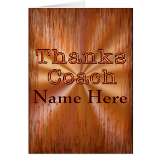 Cool Grunge Customizable Coach Thank You Cards