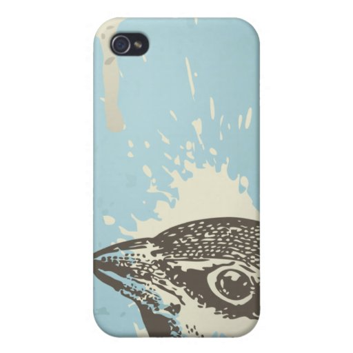 Cool grunge distressed bird iphone 4 cover case